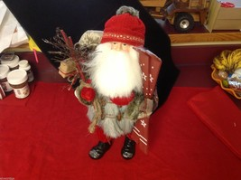 Department 56 Tall Collector's Santa embellished red winter w skis boots snow image 10