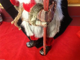 Department 56 Tall Collector's Santa embellished red winter w skis boots snow image 7