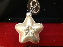 Department 56 blown glass star with glitter trim NEW image 2