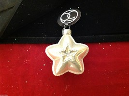 Department 56 blown glass star with glitter trim NEW image 3