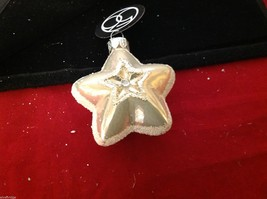 Department 56 blown glass star with glitter trim NEW image 4