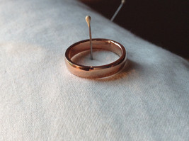 Elegant  Gold plated  Band Ring choice of size 5 6 or 7 specify at payment time image 2
