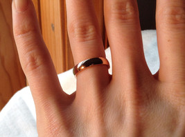 Elegant  Gold plated  Band Ring choice of size 5 6 or 7 specify at payment time image 4