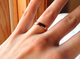 Elegant  Gold plated  Band Ring choice of size 5 6 or 7 specify at payment time image 6