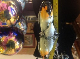 Enamel trinket box Emperor Penguin feeding baby with crystals and gold detail image 12
