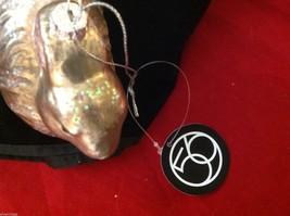 Dept 56  glass shiny golden brown rabbit wi glitter vintage look hang  ornament image 8