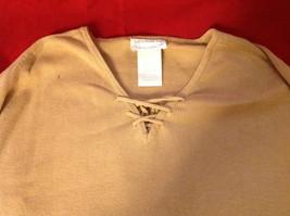 Designers Originals Ladies Light Brown Sweater Tie Closure at Neck Size Large image 3