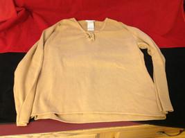 Designers Originals Ladies Light Brown Sweater Tie Closure at Neck Size Large image 6