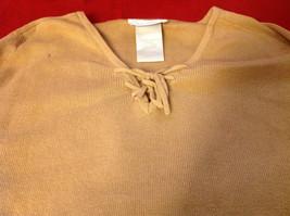 Designers Originals Ladies Light Brown Sweater Tie Closure at Neck Size Large image 4