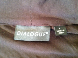 Dialogue Long Sleeve Black Soft Stretch Material Top Perfect Condition Size L image 8