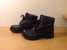 Dexter Black Combat Boots Waterproof Oil Skid Resistant Size 6.5 Wide image 2