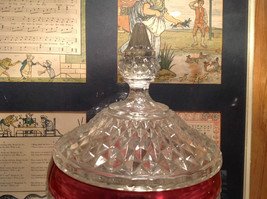 Diamond Pointed Lid Tall Glass Decorative Candy Dish 12 Inches High image 6