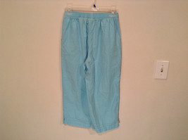 Erika Size Large Turquoise 2 pc set linen casual Cut Out Flower filigree image 9