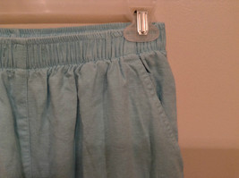 Erika Size Large Turquoise 2 pc set linen casual Cut Out Flower filigree image 11
