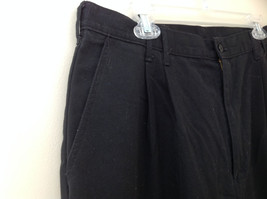 Dickies Black 3 Pocket Pleated Dress Pants Button and Zipper Closure Size 18 RG image 4