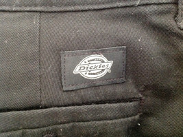 Dickies Black 3 Pocket Pleated Dress Pants Button and Zipper Closure Size 18 RG image 8