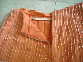 Disco Queen Vintage Bell Bottom Pants melon w beads and Wooden sandals image 3