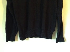 Dockers Black with Design on Front Long Sleeve Sweater 100 Percent Cotton Size L image 3