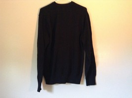 Dockers Black with Design on Front Long Sleeve Sweater 100 Percent Cotton Size L image 5