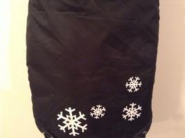 Dog It Black Winter Coat For Large Dog, Warm, Snowflakes image 7