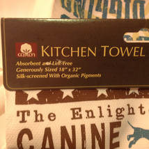 Dog Kitchen Towel The Enlightened Hound Canine Wisdom No 2 Made USA Cotton image 5