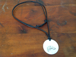 Dolphin Black Adjustable String Color Changing Necklace Changes Color In Sun image 2
