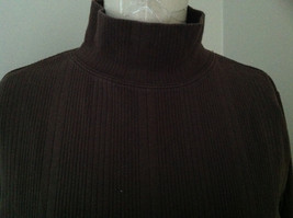 Dressbarn Brown Turtleneck Long Sleeve Sweater Made in Lesotho Size Large image 3