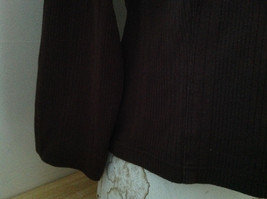 Dressbarn Brown Turtleneck Long Sleeve Sweater Made in Lesotho Size Large image 4