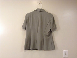 Dressbarn Green Gray Short Sleeve V Neck Top Button Up Front Size 12 image 2