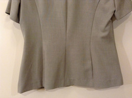 Dressbarn Green Gray Short Sleeve V Neck Top Button Up Front Size 12 image 7