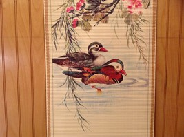 Ducks in Water Scroll Picture Wall Hanging Wooden Scroll Print image 2