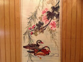 Ducks in Water Scroll Picture Wall Hanging Wooden Scroll Print image 4