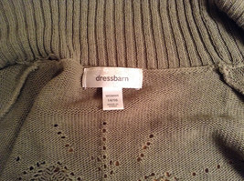 Dressbarn Short Sleeve Knitted Olive Green Open Front Sweater Sizes 14 to 16 image 7