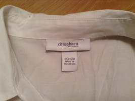Dressbarn White Button Up Front Shirt Three Quarter Length Sleeves Size 14 to 16 image 8
