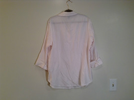 Dressbarn White Button Up Front Shirt Three Quarter Length Sleeves Size 14 to 16 image 5
