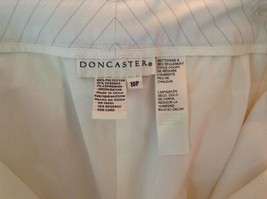 Doncaster Size 10P White Pinstriped Casual Dress Pants Front and Back Pockets image 3