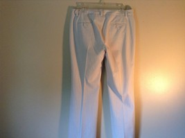 Doncaster Size 10P White Pinstriped Casual Dress Pants Front and Back Pockets image 5
