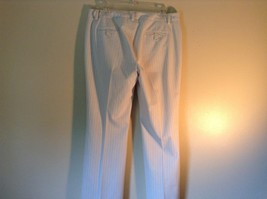 Doncaster Size 10P White Pinstriped Casual Dress Pants Front and Back Pockets image 6