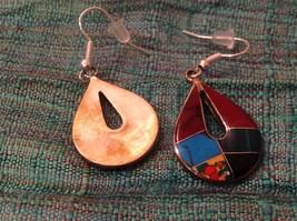 Earrings Artisanal Silver with inlay teardrop turquoise Carnelian Onyx  image 4