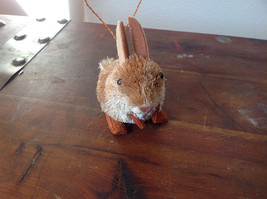 Eco-Fiber Sustainable Buri Palm Fiber Brush Rabbit Ornament Made in Philippines image 4