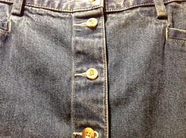 Eddie Bauer Jean 100% Cotton Medium Blue Wash Knee length Skirt, Size 14 Tall image 2