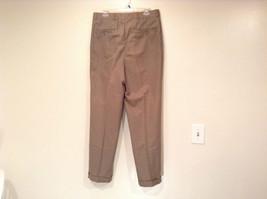 Eddie Bauer Light Brown 100 Percent Cotton Pleated Front Dress Pants Size 33W image 5