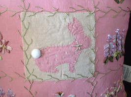 Easter Spring Bunny Rabbit Pink Pillow with Ornaments Great for Spring Fever image 2