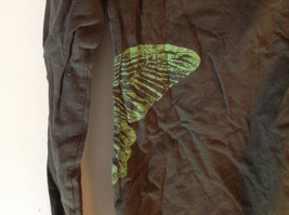 Eddie Bauer Long Sleeve Shirt Brown with Green Butterfly Graphic Size Small image 5
