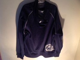 Ecko Functions Dark Blue Hoodie Pockets Gray Accents Size Large image 4