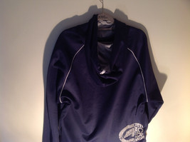 Ecko Functions Dark Blue Hoodie Pockets Gray Accents Size Large image 6