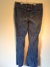 Eddie Bauer Long Dark Blue Jeans Button and Zipper Closure Size 14 Long image 2