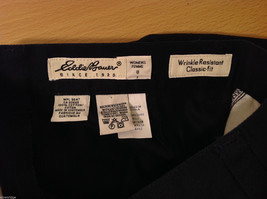Eddie Bauer Womens Classic Fit Wrinkle Resistant Navy Blue Black Pants, Size 8 image 9