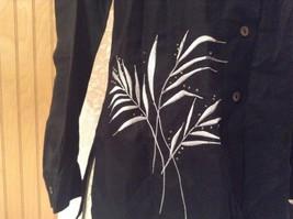 Edward Irish Linen Black 100 Percent Linen Button Down Shirt Size Small image 3