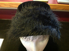 Elegant Ladies Vintage Black Hat with black border 10 Inches Big image 3